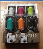 X-Vibe Vibration Portable Speaker Music Audio Speaker Dock 3.55mm mini jack for iPod iPhone 4S Mp3 Mp4 laptops 6 colors 20pcs/lo