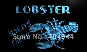 LK376- Lobster Seafood Restaurant Bar Neon Light Sign    home decor shop crafts led sign
