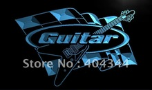 guitar neon sign promotion