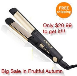Big Sale Jinding 2 n One Portable Ceramic Roller Straightener Hair Flat Iron Hair Care Tool JD-70E(China (Mainland))