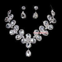Free Shipping Bride chain sets married necklace shape pendant marriage accessories tl149