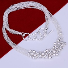 Wholesale 925 silver bead necklace fashion jewelry gifts, free shipping N002