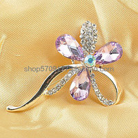 Crystal full rhinestone brooch 19148 corsage badge irritably paragraph crystal brooch florid