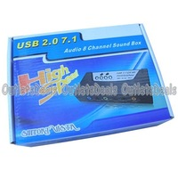 USB 2.0 CH 3D 7.1 Audio 8 Channel Sound Card External Sound Pocket USR71 SPDIF MIC BS C/B, Free Shipping