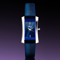 Berze Women quartz watch navy blue watch patent leather fashion watch strap ol gentlewomen watch(China (Mainland))