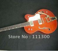 High Quality New Hollow body- Guitars G6120 DSV Chet Atkins  Electric Guitar orange