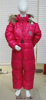 Children's clothing down coat baby down coat male female child one piece down coat large fur collar