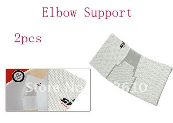 2pcs White Gray Striped Pullover Style Sports Elbow Support