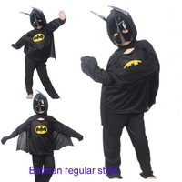 Min.order is $20)wholesale New Performance children' clothing Batman regular style costume hat+clothes+trousers Free shipping