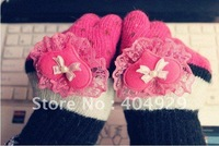 HOT Sale Winter Warm Love lace Gloves