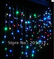 180 LED 6M curtain lights Led icicles lights lamps with tail plug Icicle Lights Xmas Wedding Party Decorations-Color changing
