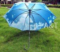 New Anti-UV Waterproof Blue Sky & White Cloud Sun umbrella