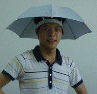 DHL free shipping Novelty items Hot and Convinient Solid Color Multifunction hat Umbrella, Also Anti-UV, Rain Umbrella & Parasol