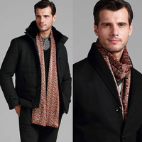 2012 silk brushed double faced male scarf autumn and winter thermal muffler scarf