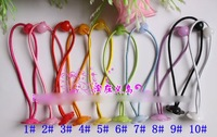 Freeshipping Wholesale 200Pcs/lot Quality Baby/Girl Hair Ties Pony Tails Elastics with Bead /Hair Accessories Great for DIY