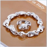 Min order 15USD(MIX)  FS-1 Fashion Jewelry  Silver Plate Jewelry Set S094
