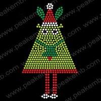 Free Shipping 30pcs/Lot 2012 New Christmas Design Hotfix Rhinestone Transfers for Dress Tshirt Custom Design Available