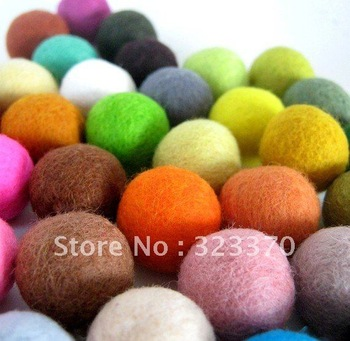 Newest! Cheapest AAA Quality 200pcs A Lot Mixed Color 20MM Woven Wool Handmade Felt Beads for DIY Christmas Jewelry Decoration!