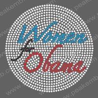 30pcs/Lot Free Shipping Hotsale 2012 Women for Obama Rhinestone Heat Transfers Iron On Wholesale + Retail