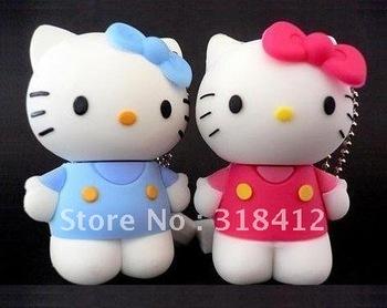 Real memory 2GB 4GB 8GB 16GB 32GB Lovely Hello kitty mini USB flash drive free shipping + drop shipping