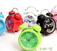 free shipping Double bell metal alarm clock double bell alarm clock bell clock table clock mini doubles bell clock 180