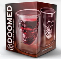 Crystal skull cup pirate wine glass beer cup glass cup red wine cup glass skull