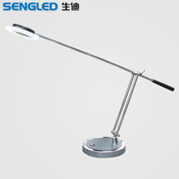 Brief modern table lamp 7w led bright eye student lamp stainless steel bedside lamp