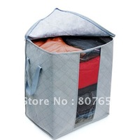 Bamboo Charcoal Clothes Coat Blanket Bedquilt 65L sweater Organizer receive Storage Bag Box-freeshipping