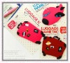 3 design being a lot of 3d promotional rubber travel luggage tags