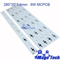 280*20*1.4mm  6W aluminum plate BASE  LED high power  board  PCB