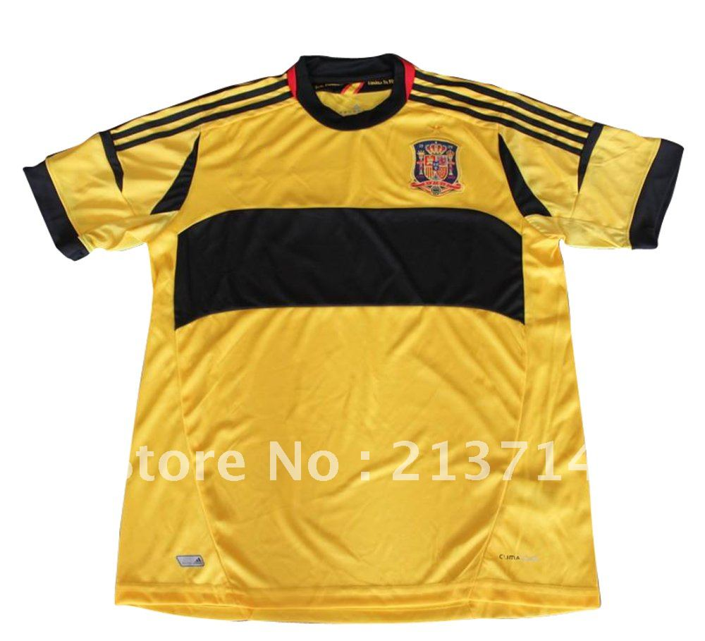 euro 2012 Spain Goal Keeper yellow jersey customize(China (Mainland))