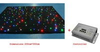 LED star cloth 3m x 2m DJ backdrop LED curtain  with controller free shipping