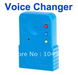 Telephone Cell Phone Voice Sound Changer Device Microphone Sound Disguiser Free Shipping &amp; Drop Shipping(China (Mainland))