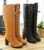 Free shipping knee boots high heel shoes winter fashion sexy warm long women boot pumps AH103 on sale size 30-43