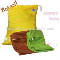 Happyflute mummy bag  plain pul  free shipping diaper bag
