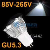 New 3W GU5.3 SMD White High Power COB LED Spot Light Bulb Lamp 85V-265V Free Shipping