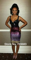 2012 cheap off shoulder shinny beaded stock spendex celebrity party bandage dress