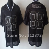 Free Shipping!!!  #88 Dez Bryant  MEN'S Lights Out Black JERSEYS (embroidered logo,all name number stitched)