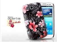 Free shipping Flower Skin Case Cover For Samsung Galaxy S 3 III S3 I9300 .