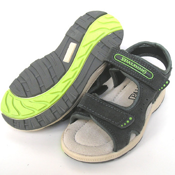 Spalding child sandals leather sandals greygreen