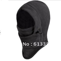 (5 pcs lot) men winter outdoor wind cold face cover protection fleece mask headgear weatherization cap hat Free Shipping