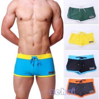 New Men's Boxer Swimming Trunks w/Front Tie  Swimwear DESMIIT Pattern SL00189 For Freeshipping
