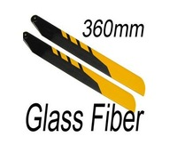 1Pair/Lot  360mm Glass fibre GF Main Rotor Blades Outrage G5