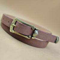 P2001 bronze stretch vintage crotch women's strap belt women's belt small strap thin belt 65g