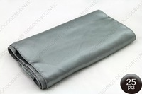 "Free shipping 25PCS Silver Satin Table Runners 12"" x 108"" Wedding Party"