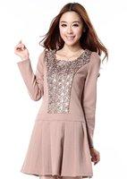 S-L free shipping manufacturers supply new fashion Women's Chiffon striped dress #M1