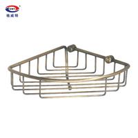 Gweat copper bathroom hardware accessories copper antique basket trigonometric single tier belt 7315