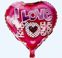 "50 PCS 18"" inch Heart shape Helium balloons Birthday Wedding party decorations  for Valentine print ""I love you"""