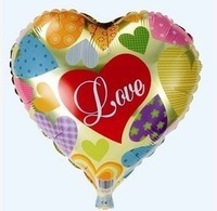 "50 PCS 18"" inch Heart shape Helium balloons Wedding birthday party supplies Inflatable toys gifts for Valentine day print ""LOVE"""