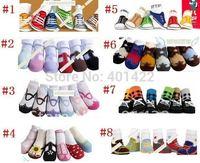 48pairs/lot freeshipping cotton anti slip baby wear baby socks infant socks non slip baby wear,infant shoes,toddler's socks